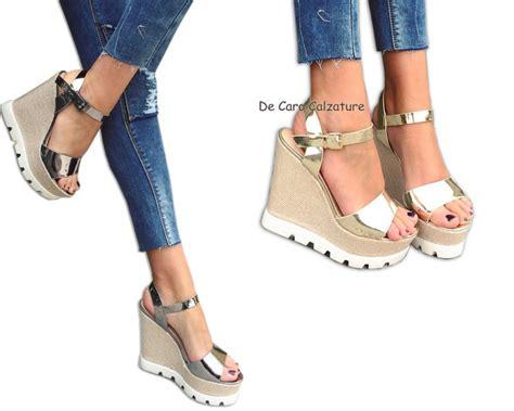 donna e scarpe donna sandali tacchi alti 14 cm decollet 232 zeppa con