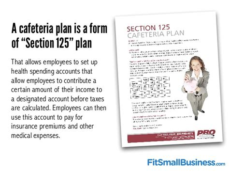 how to set up a section 125 cafeteria plan small business health insurance made simple