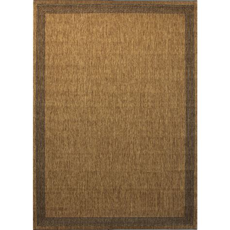 Indoor Area Rug Shop Allen Roth Decora Rectangular With Beige Border Indoor Outdoor Woven Area Rug