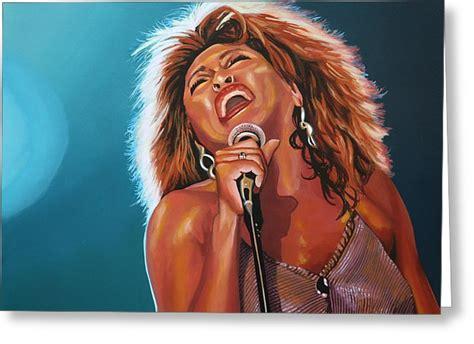 Tina Turner Birthday Card Tina Turner 3 Painting By Paul Meijering