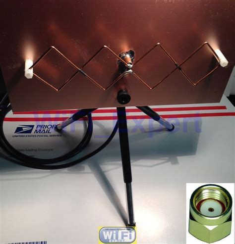 wifi antenna mach  double biquad wireless booster long range   internet wifi wifi