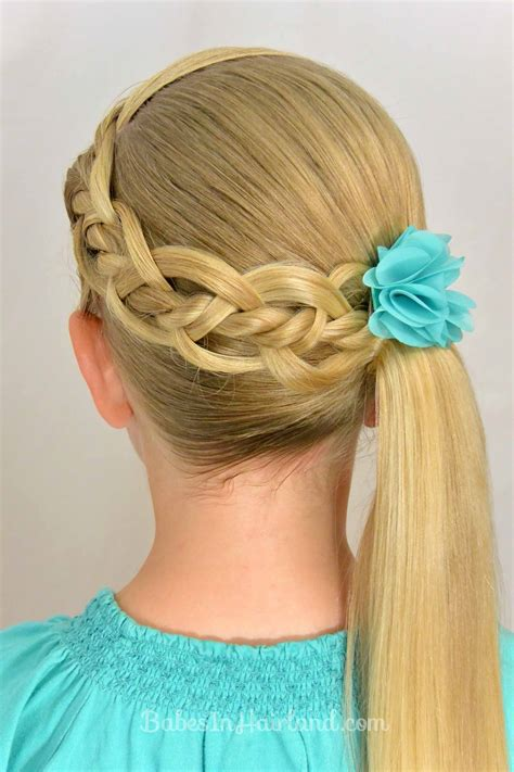 how to do fancy hairstyles for kids 4 strand braid with a twist babes in hairland