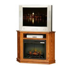 Corner tv stand w fireplace country lane furniture