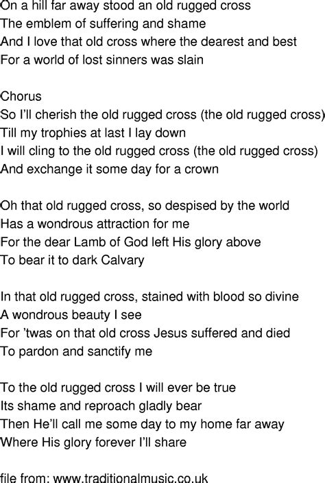 lyrics for the rugged cross song lyrics doctor who and lyrics on