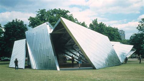 aufklappbarer pavillon serpentine gallery pavilion 2001 by daniel libeskind