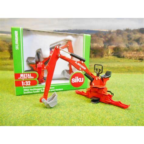 siku scheune 1 32 siku 1 32 tractor mounted moser backhoe loader digger