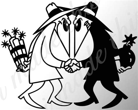 spy vs spy sticker