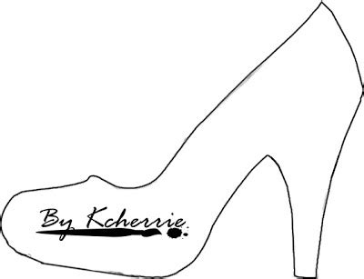 high heel shoe template craft if the shoe fits snippets ink