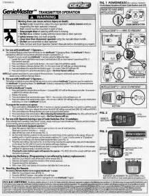 genie intellicode garage door opener manual home