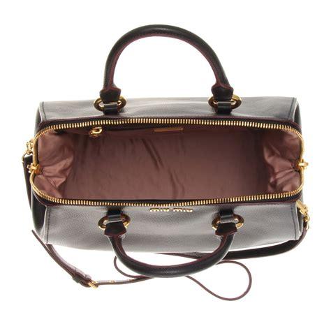 Miu Miu Spider Leather Bag by Miu Miu Leather Handbag In Black Lyst
