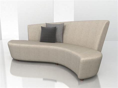 modern curved sofa century studio essentials upholstery
