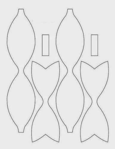 plantillas para hacer lazos de foami lazos mejor conjunto de frases plantillas lazo de papel buscar con google moldes para