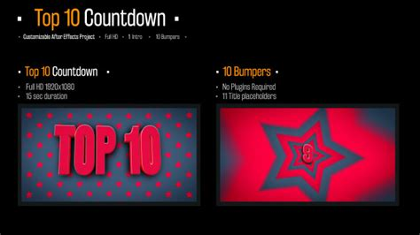 top 10 best motion graphics intro templates april 2017 top 10 countdown after effects template videohive