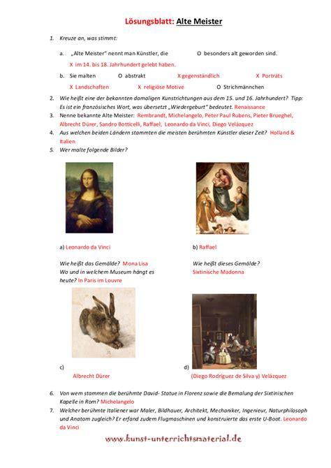 Lebenslauf Unterrichtsmaterial K 252 Nstler Grundschule Unterrichtsmaterial