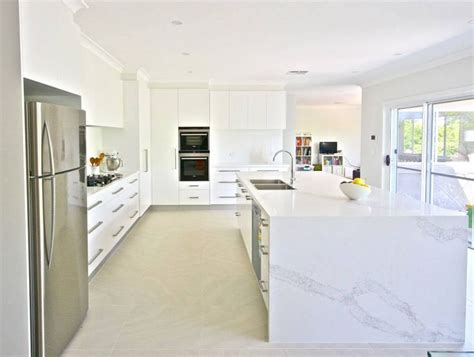 clean polyurethane island the all white kitchen polyurethane doors 40mm calacatta
