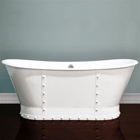 pedestal bathtubs 67 quot cast iron skirted pedestal double ended slipper