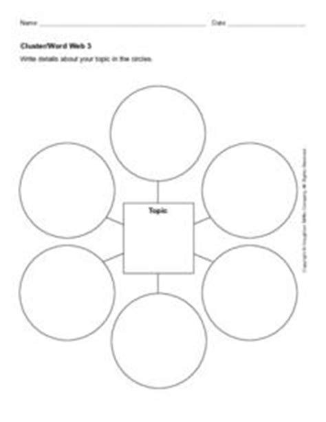 Cluster Word Web 3 Worksheet For 2nd 4th Grade Lesson Planet Cluster Word Web Template