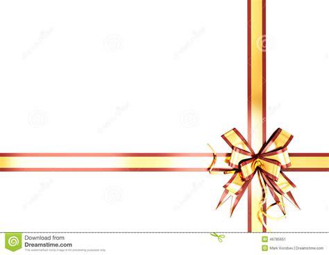 gold festive ribbon   red border stock illustration image