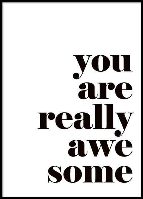 Poster One 1 30x40cm poster med quote texttavlor