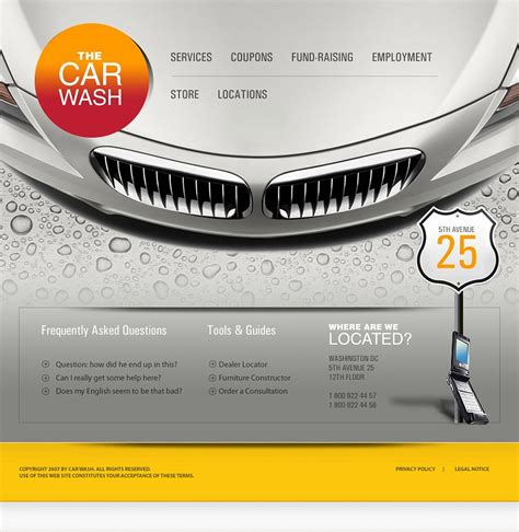 car wash template car wash website template 14790