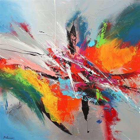 imagenes de obras abstractas explosiones de color sobre lienzo 2 la pintura abstracta