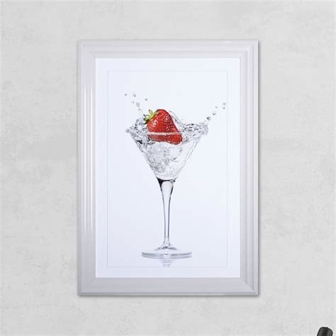 Shh Interiors by Shh Interiors Strawberry Glass Print With Liquid Glass And