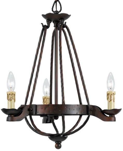 Gothic Chandelier Wrought Iron Vintage Medieval Forged Iron Chandelier 3 Light Fx 3511 3