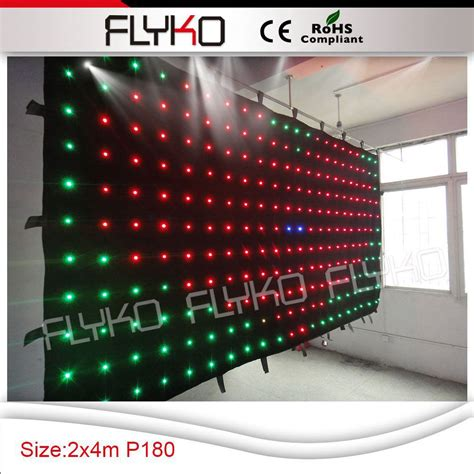 flexible led curtain price aliexpress com buy free shipping p18 4x2m flyko flexible