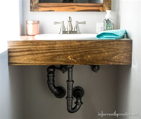 how to build a floating vanity cabinet diy floating wood vanity infarrantly creative
