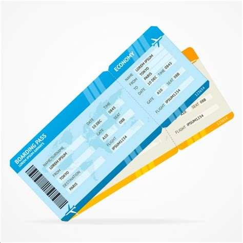 airline tickets template design vector 01 vector life
