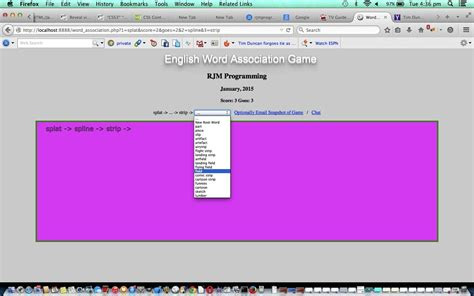 tutorial php word english word association game primer tutorial robert