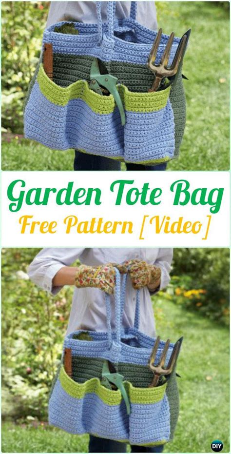 garden tote bag pattern crochet handbag free patterns instructions