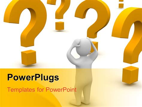 powerpoint templates question mark powerpoint template confused white figure surrounded by