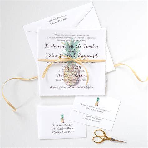 pineapple wedding invitations custom invitations unique wedding invitations watercolor