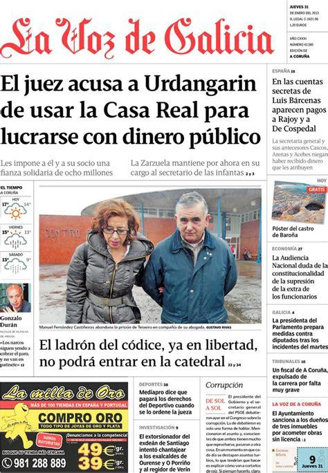 la voz de las periodico la voz de galicia 31 1 2013