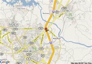map of howard johnson inn rock hill rock hill