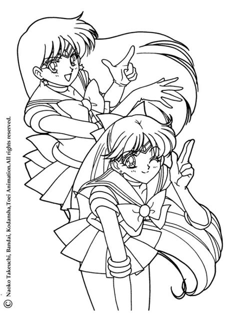 Two Heroes Coloring Pages Hellokids Com Sailor Mars Coloring Pages