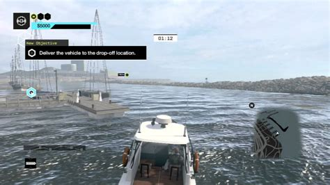 boats game whatch dogs game play ps4 chick in the boat youtube