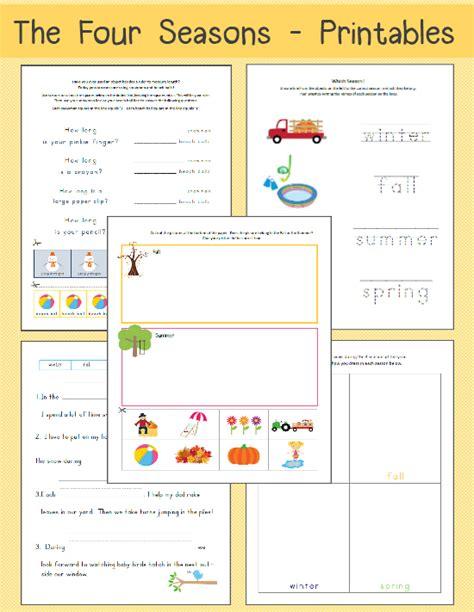 kindergarten activities on seasons four seasons worksheets free printables free worksheets