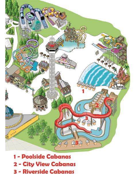 cabanas elitch gardens theme and water park