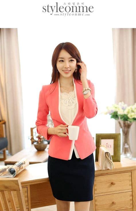 Baju Jaket Cardigan Wanita Stripe Korean Menambah Style Fashion Merah jaket korea wanita blazer wanita korea holidays oo