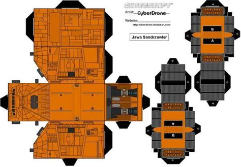 Starwars Papercraft - wars custom papercraft templates gadgetsin