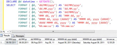 format date command sql server denali format a most wanted function