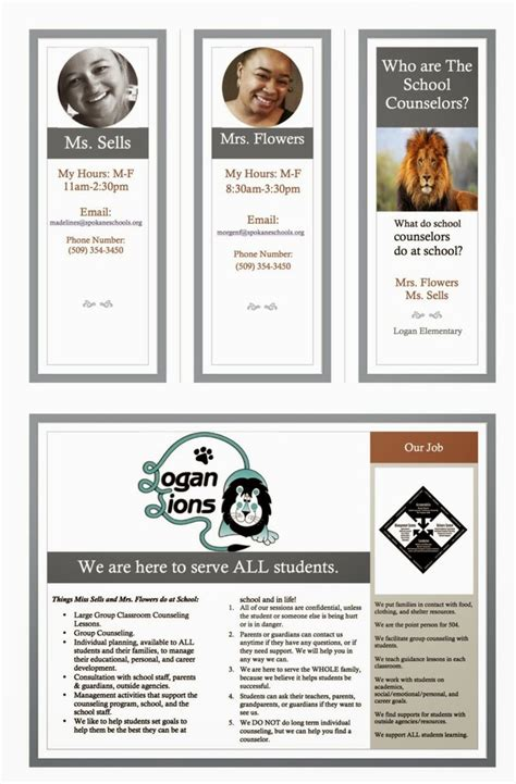 high school brochure template 17 best images about school counseling on all