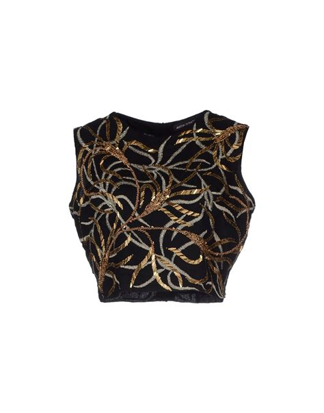 Batik Top lyst antik batik top in black