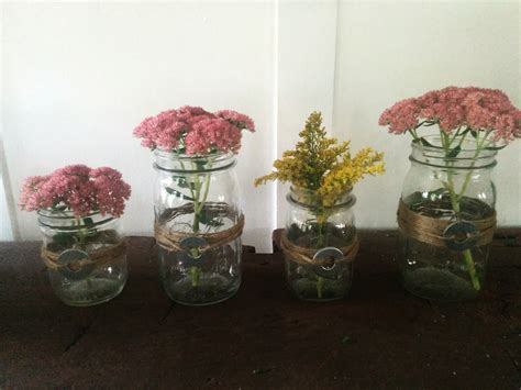 Quick Diy Mason Jars And Twine Fall Centerpieces How To Make Jar Centerpieces