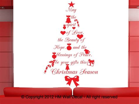 sayings about decorating a christmas tree tree with wish quote wall decal great gift ebay