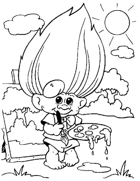 trolls coloring sheets troll coloring pages for coloringpagesabc
