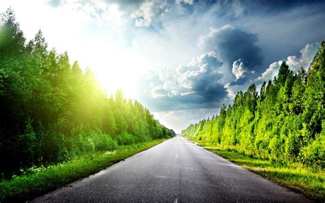 beautiful road beautiful road sunshine way hdwallpaperfx