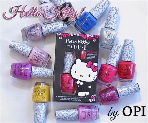 Hellokitty Spa Peeling Gel no chip manicure colors opi papillon day spa